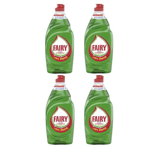 Fairy Original Haushaltsflasche (+ 20% gratis), 4er Pack (4 x 550 ml)