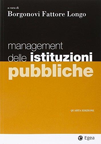 Management delle istituzioni pubbliche PDF
