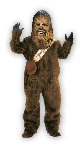 Star Wars Chewbacca Deluxe Faux Fur Full Mask Costume