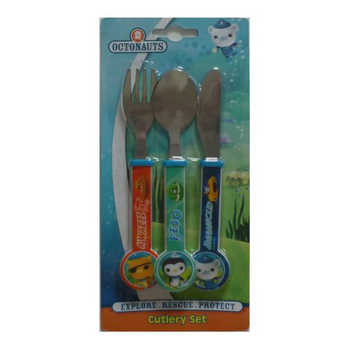 Octonauts 3 Pc Cutlery Set for kids children includes knife, fork and spoon - EMP