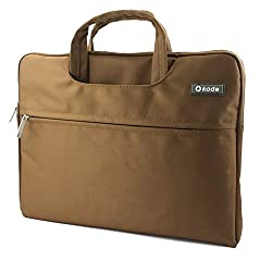 Okade Deluxe High Quality Water Resistant Nylon Laptop Case Carry Bag Pouch Briefcase For All Laptop Size 15.6 Inches Colour Brown