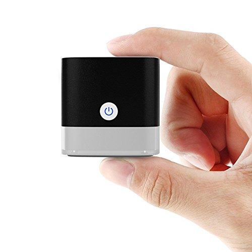 Marsboy(マーズボーイ) Bluetooth スピーカー ポケットサイズ キューブ型 ポータブル ワイヤレス スピーカー 12 時間連続再生 重低音 USB充電式 (ブラック)