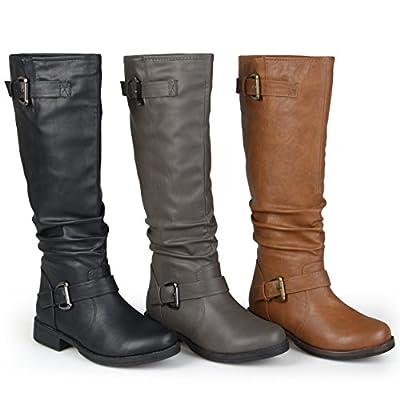 Brinley Co Women's Sunny Riding Boot Regular & Wide Calf
