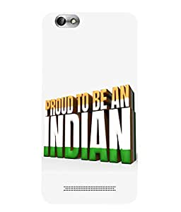 Snazzy Indian Printed White Hard Back Cover For Lenovo Vibe C A2020