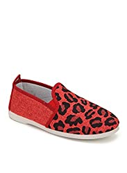 Scentra Womens Red Canvas Moccasins MDCRS(38EU/4UK)