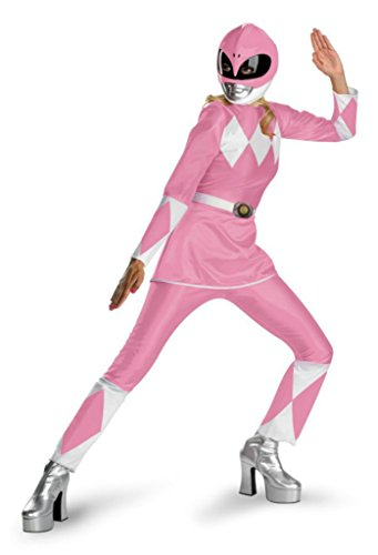 Disguise Womens Mighty Morphin Power Rangers Pink Dress Fancy Halloween Costume