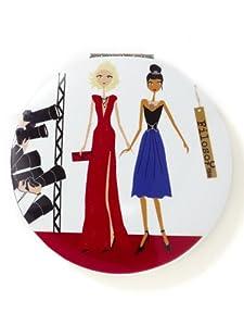 Filosofille - H-01-3003 - Miroir Fantaisie Hollywood de Poche ou de Sac - Aluminium - Diamètre 7 cm