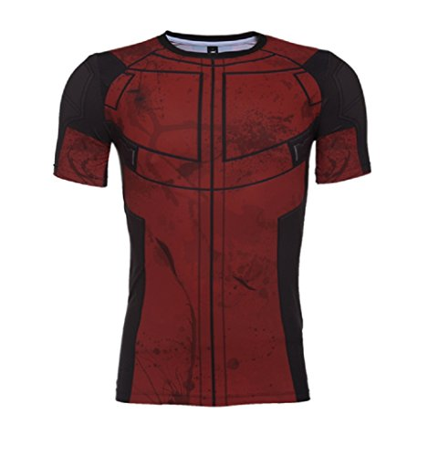 Horries Mens Short Sleeve Cosplay T-shirt (Colossus Costume)