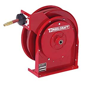 Reelcraft 4625 OLP 3/8-Inch by 25-Feet Spring Driven Hose Reel for Air/Water