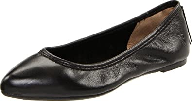 FRYE Women's Regina Ballet Flat,Black Soft Vintage Leather,5.5 M US