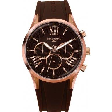 Jorg Gray JG1500-21 Ladies Brown Rubber Strap Watch