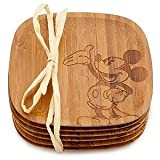 Disney Bamboo Mickey Mouse Coaster Set - Brand New