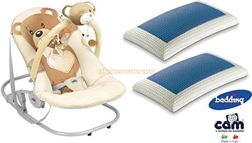 Sdraietta CAM Orso Giocam col. 219 + Coppia di cuscini Bedding Blue Classic