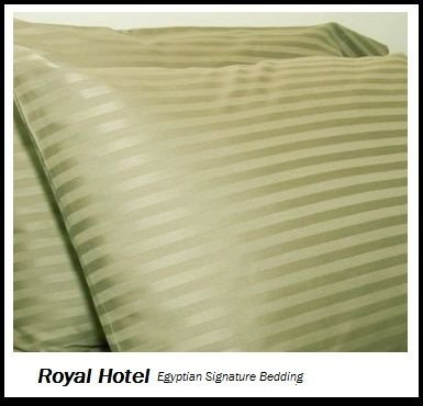 Royal Hotel'S Striped Sage 300-Thread-Count 3Pc California-King Duvet-Cover 100-Percent Egyptian Cotton, Sateen Striped, 100% Cotton front-624079