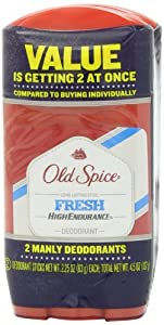 Old Spice High Endurance Fresh Scent Men's Deodorant Twin Pack 4.5 Oz