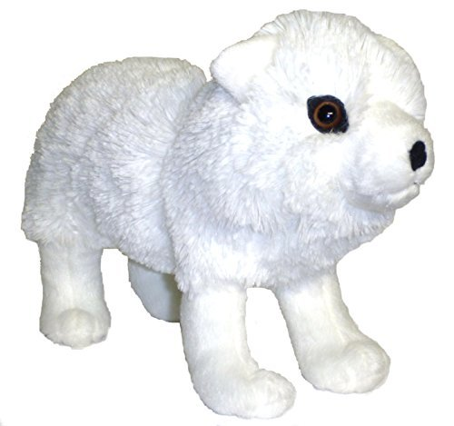 "ADORE 12"" Frosty the Arctic White Wolf Plush Stuffed Animal Toy"