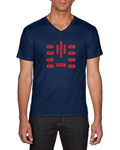 Touchlines Knight Rider-Kitt Control, T-Shirt Uomo, Blau (Navy 18), X-Large