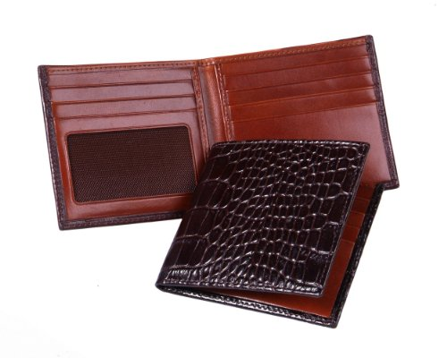 Sage Brown Genuine Leather ID Billfold