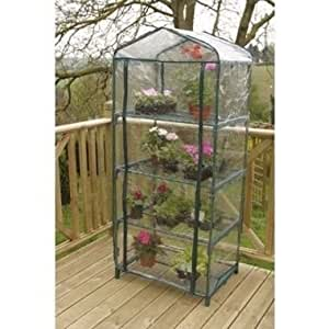 4 tier mini greenhouse with pvc cover amazoncouk for Amazon gardman furniture covers
