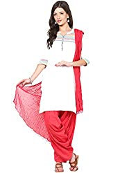 Soundarya Cotton Free Size Patiala Salwar with Dupatta for Women (PAT7)