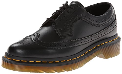 Dr. Martens 3989 BROGUE VEGAN , Scarpe Brogue Stringate Unisex Adulto, Nero, 38