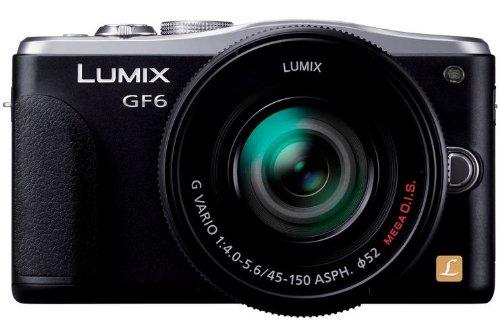 Panasonic DMC-GF6WEG-K  appareil photo hybride(16 mégapixels, écran LCD 7,6 cm (3 pouces), Full HD) FS1442AE avec  téléobjectif standard H-S-H et FS45150E-S