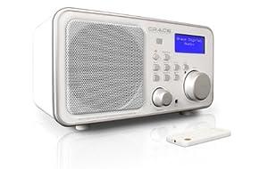 Grace Digital Wireless Internet Radio with remote (white)