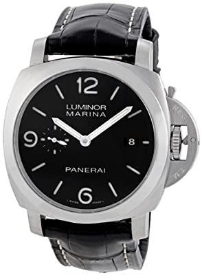 Panerai Men's PAM00312 Luminor 1950 Black Dial Watch