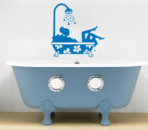 Housewares Vinyl Decal Beautiful Girl Taking Bath Home Wall Art Decor Removable Stylish Sticker Mural Unique Design For Any Room back-1008449