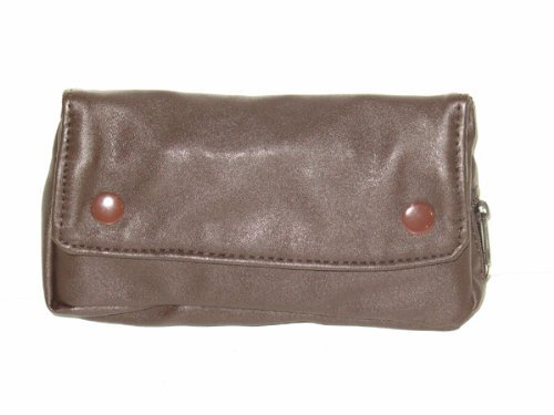 Brown Vinyl Pipe Tobacco Pouch Tool & Pipe Pockets