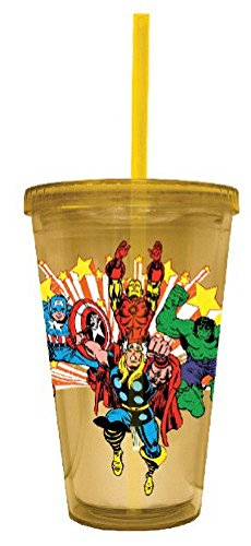 Marvel Comics Group Image Carnival Cup with Lid and Straw