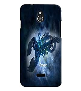 PrintVisa Zodiac Scorpio Scorpion 3D Hard Polycarbonate Designer Back Case Cover for Infocus M2
