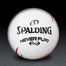 Neverflat Soccer Ball - Red/White