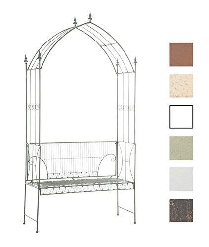 clp stabiler rosenbogen mit bank nostalgie aus eisen im. Black Bedroom Furniture Sets. Home Design Ideas