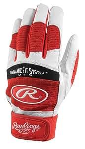 Rawlings BGP355A-S-89 Batting Gloves, Medium (Scarlet)