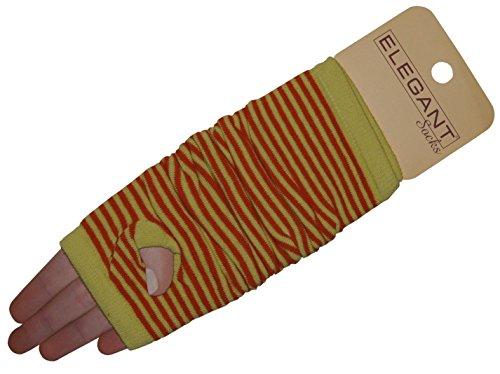 Elegant Socks -Armstulpen gestreift (gelb-orange)