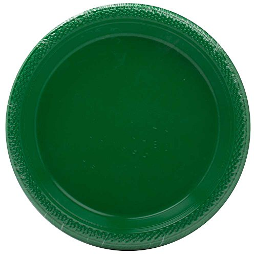 Jam Paper® - Small Round Green Plastic Party Plates - 7 Inches - 20 Plates Per Pack