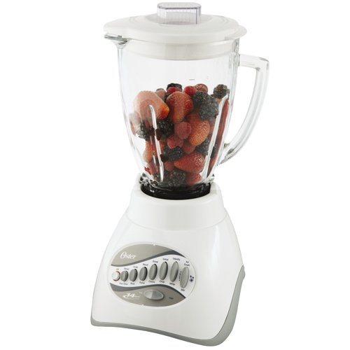 Oster 6803 Core 14-Speed Blender with Glass Jar, White (Osterizer Blender Glass Jar White compare prices)