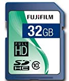 Fujifilm 32GB SDHC Class 10; 32768 MB; Secure Digital High-Capacity (SDHC); Blue (P10NM00580A)