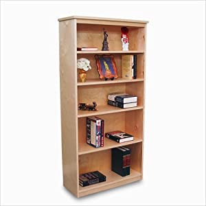 Gothic Cabinet Craft Unfinished Wood Bookcase With Four Adjustable Shelves