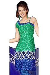 Variation Women's Green Jacquard Unstiched Dress Material (VD11946)
