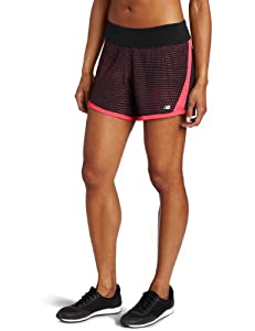 New Balance Damen Running - Hose 5in 2-in1 Short Print, raspberry, L, WRS2323RS