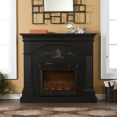 Lincoln Harvest Electric Fireplace Finish: Black photo B009DUH49I.jpg