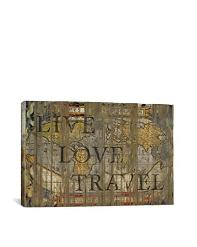Diego Tirigall Live Love Travel Gallery Wrapped Canvas Print