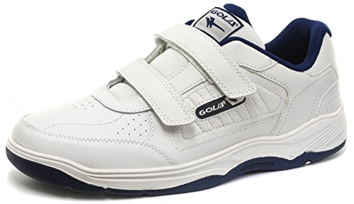 Gola Belmont Velcro WF White Mens Wide Fit Sneakers, Size 49