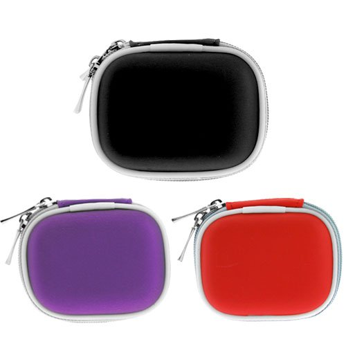 Gtmax Carrying Pouch Case For Bluetooth Headset- Purple , Black ,Red