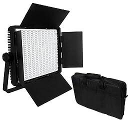 CN-900SA 5600K LED Video Studio Light Panel w/ V Lock Battery Mount + Carry Bag