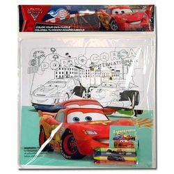 Cars 2 Color Your Own Large Puzzle w/4 Crayon