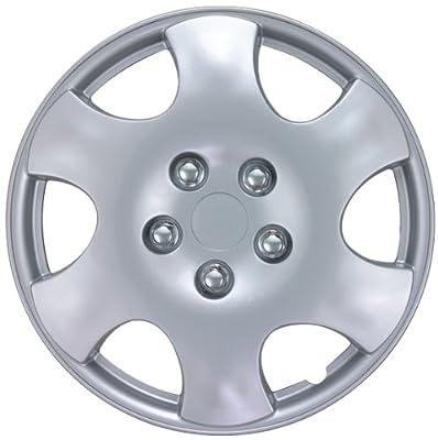 """Drive Accessories KT-1015-15S/L, Toyota Corolla, 15"""" Silver Replica Wheel Cover, (Set of 4)"""