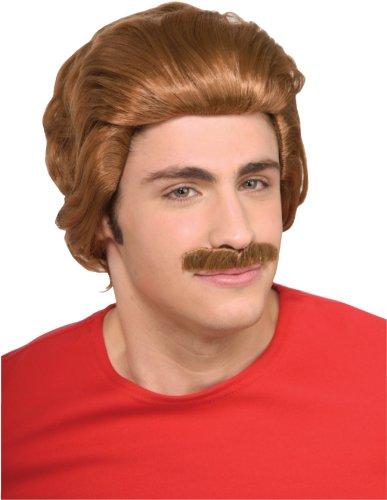[Nacho Libre Wig & Moustache] (Childrens Nacho Libre Costume)